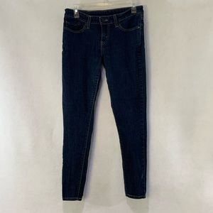 Levi's low rise skinny tapered leg jeans